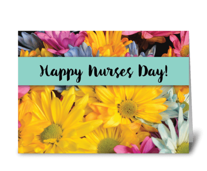 Nurses Day Thanks Gerbera Daisies greeting card
