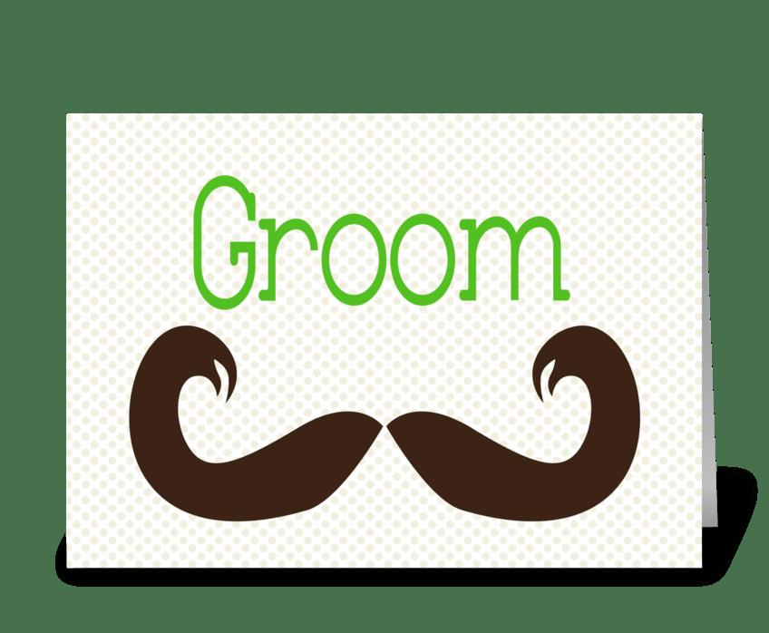 Groom greeting card