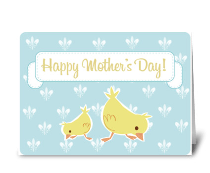 Mothers Day Birds greeting card