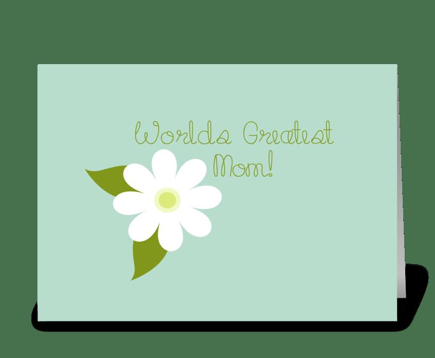 World's Greatest Mom greeting card