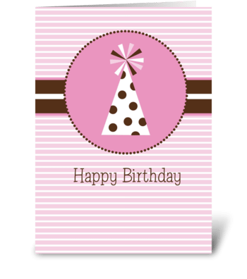 Party Hat greeting card
