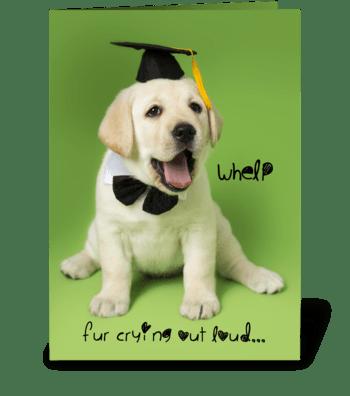 Whelp Congratulations Graduate Puppy greeting card