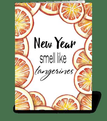Christmas tangerines greeting card