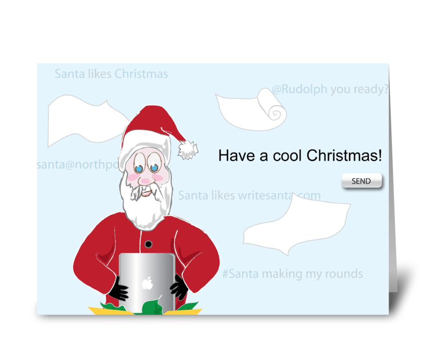 Santa gets Technological greeting card