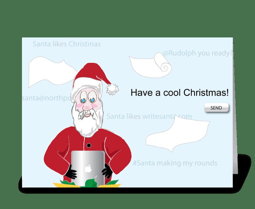 Santa gets Technological greeting card