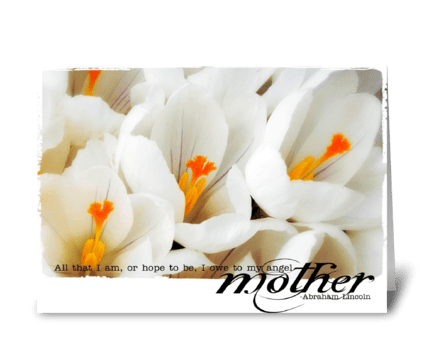 For mom greeting card