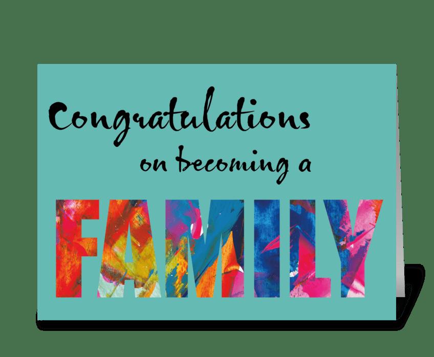 65 Adoption / Family Card greeting card