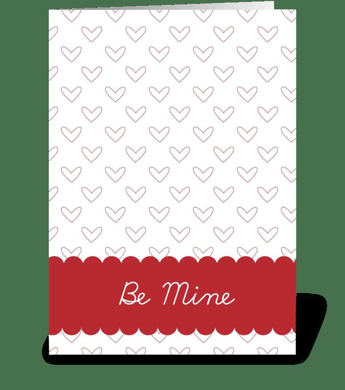 Be Mine Hearts greeting card