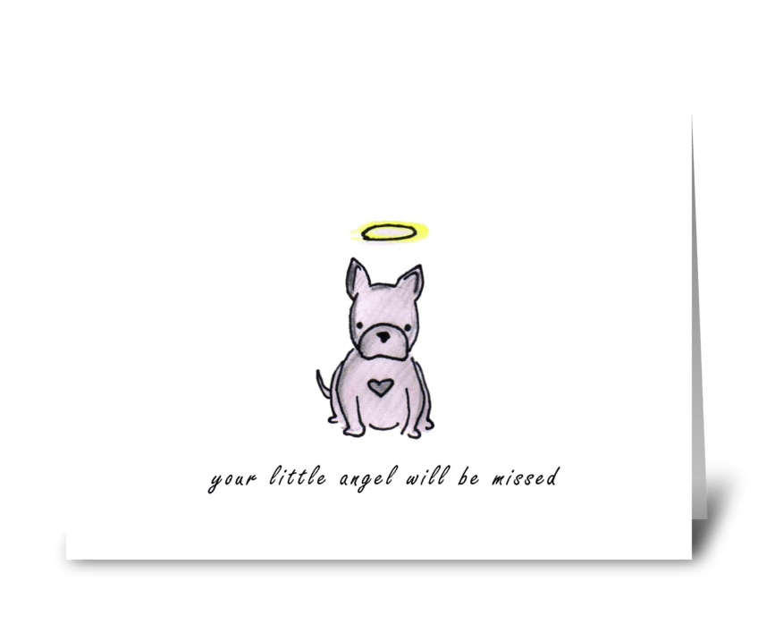 Dog Angel greeting card