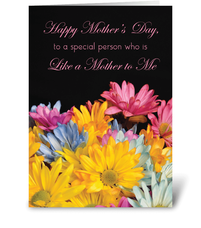 Like a Mother to Me, Mother's Day Gerber greeting card