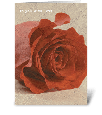 to you with love. greeting card
