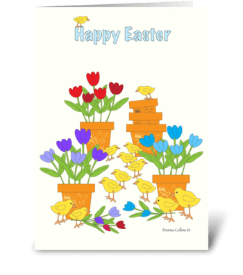 Easter Peeps greeting card