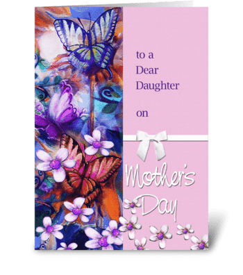 Mother's Day for Daughter greeting card