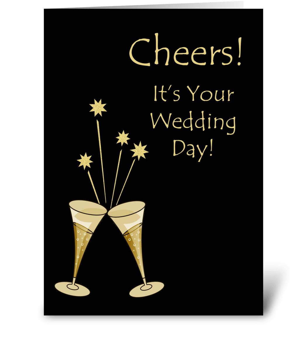 Wedding Greeting Cards.Champagne Toast Wedding Congratulations