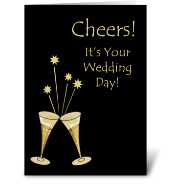 Champagne Toast Wedding Congratulations greeting card