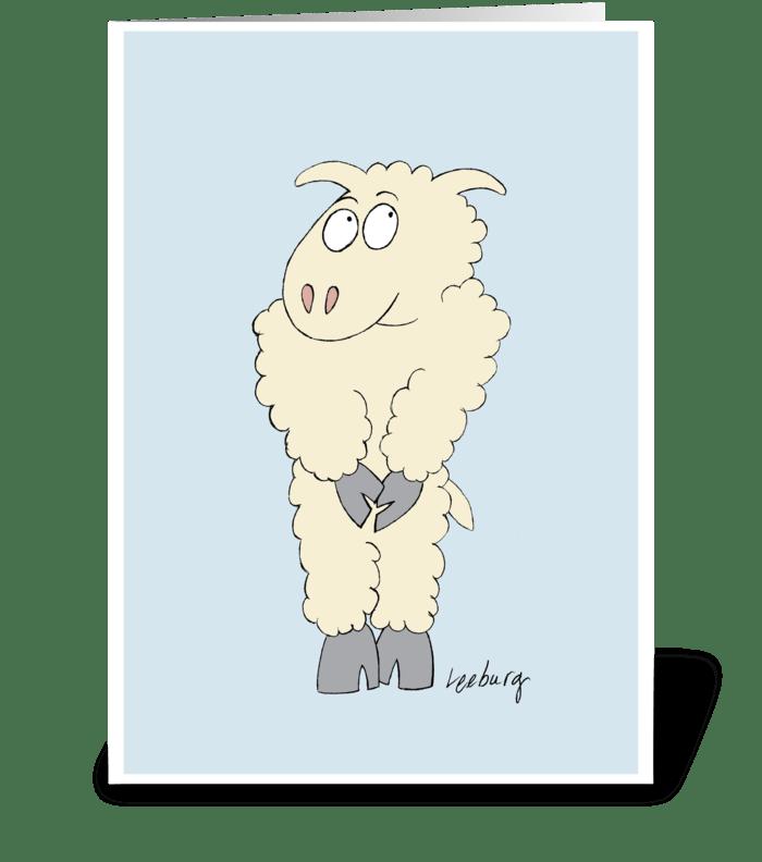 Sheepish Forgiveness greeting card