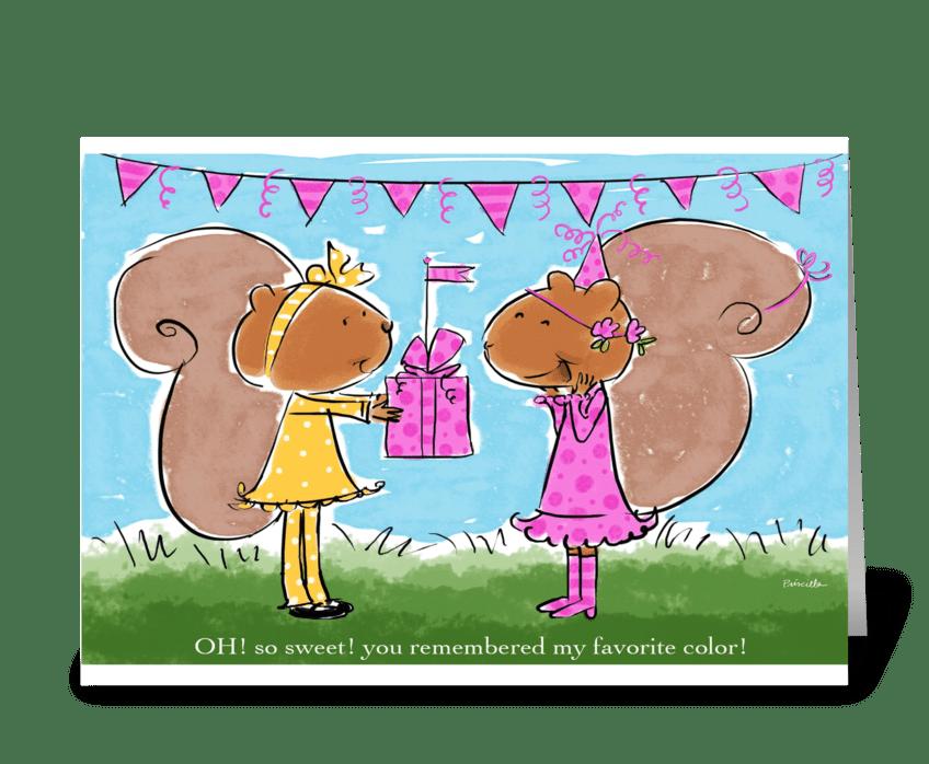 Sweet Birthday Friend greeting card