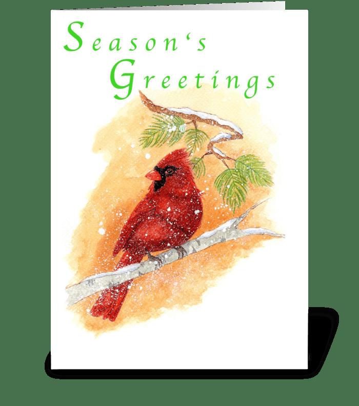 Snowy Day greeting card