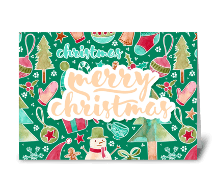 Merry Christmas pattern card greeting card