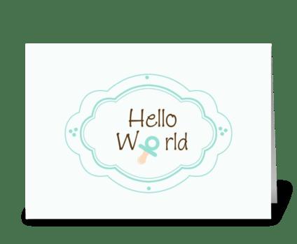 Birth Annoucement greeting card