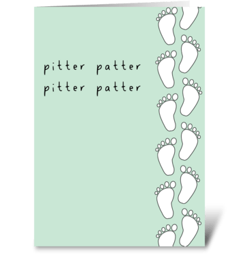 Pitter Patter greeting card