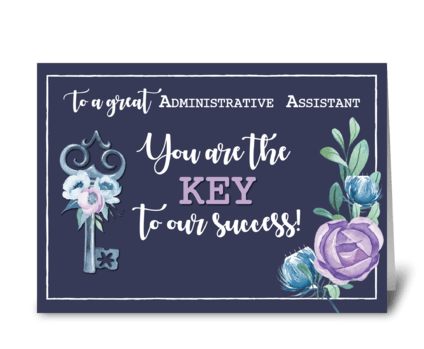 Administrative Assistant Admin Pro Day  greeting card