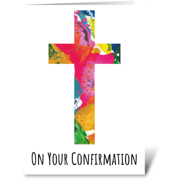 61 Confirmation greeting card