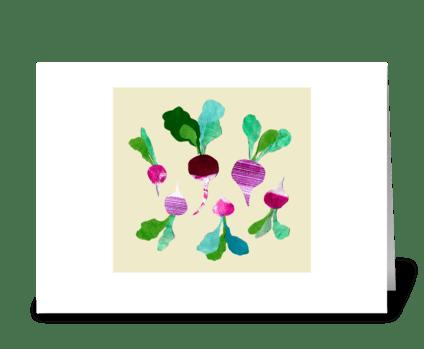 Radishes greeting card
