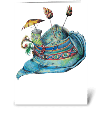 Summer Hat greeting card