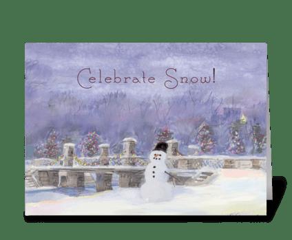 Celebrate Snow greeting card