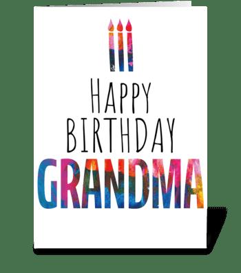 58 Grandma Birthday Cake greeting card