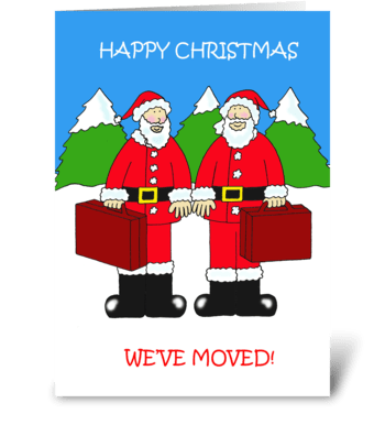 Happy Christmas from Our New Address greeting card