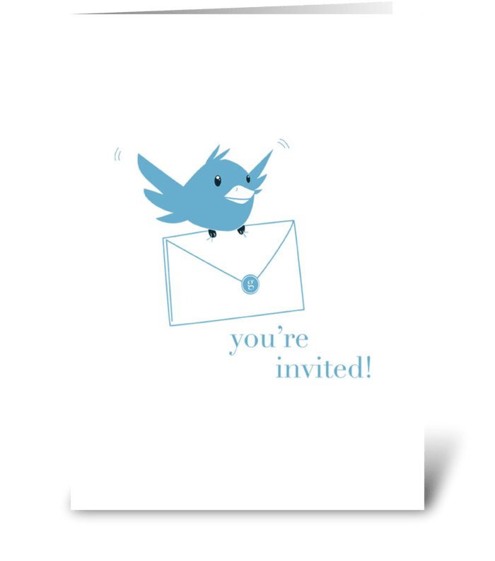 Bluebird Invitation greeting card