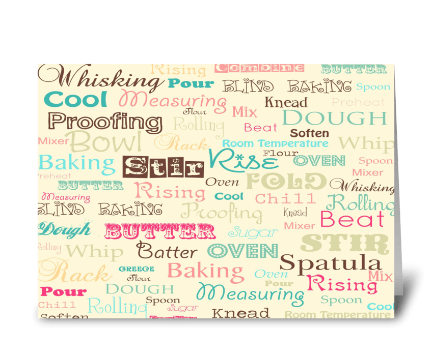 Bake Sale! greeting card
