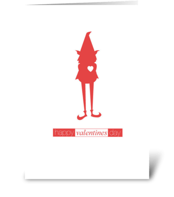 Gnome Valentine greeting card