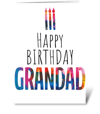 59 Grandad Birthday Cake greeting card