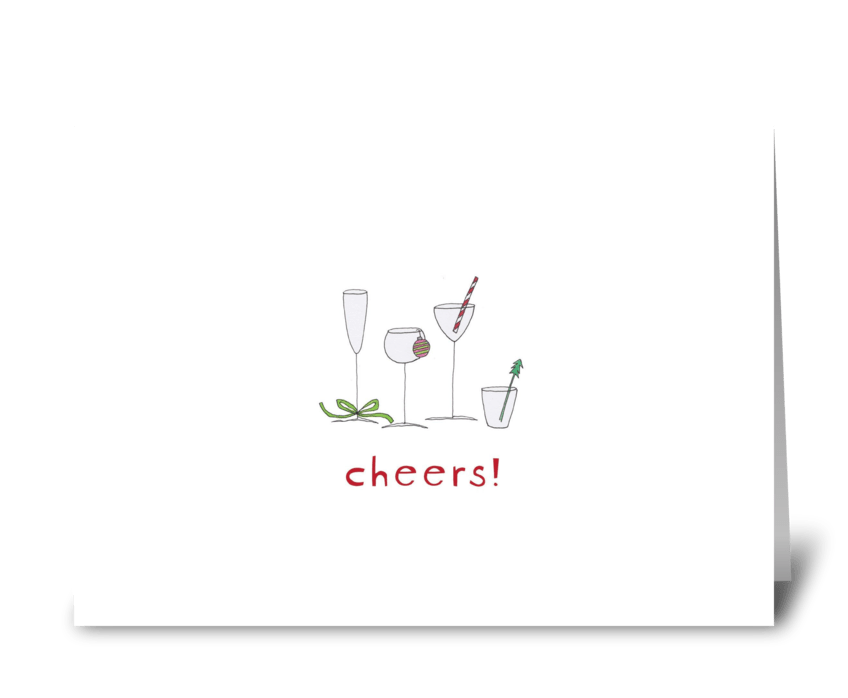 holiday cocktails greeting card
