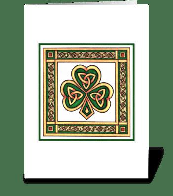 TRADITIONAL SHAMROCK greeting card