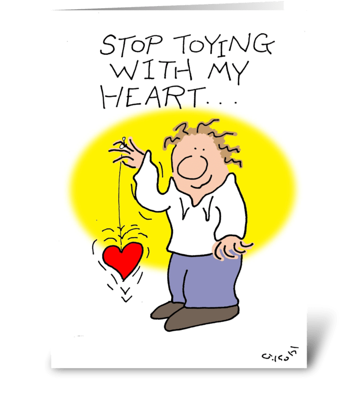 Toying greeting card
