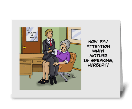 Boss's Day Card For Female with Cartoon  greeting card