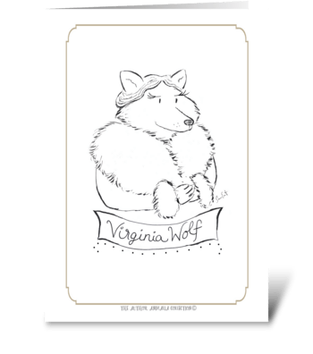 The Author Animalia Collection: Wolf greeting card