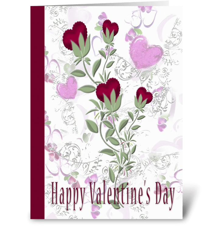 Happy Valentine's Day, Hearts greeting card