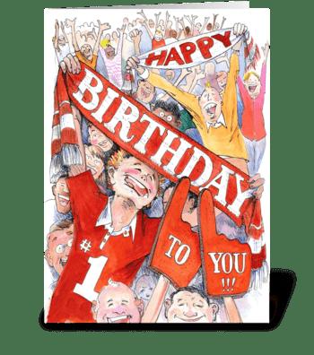 Birthday fans greeting card