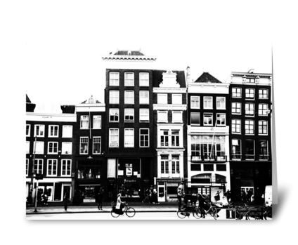 Crooked Buildings greeting card