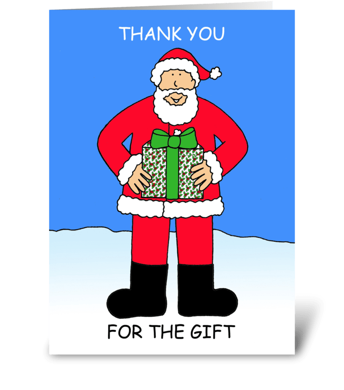 Thank you for the Christmas gift. greeting card