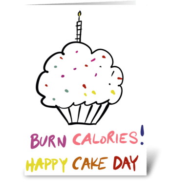 Burn Calories Cupcake greeting card