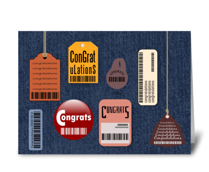 Scan the Tag - Congratulations greeting card