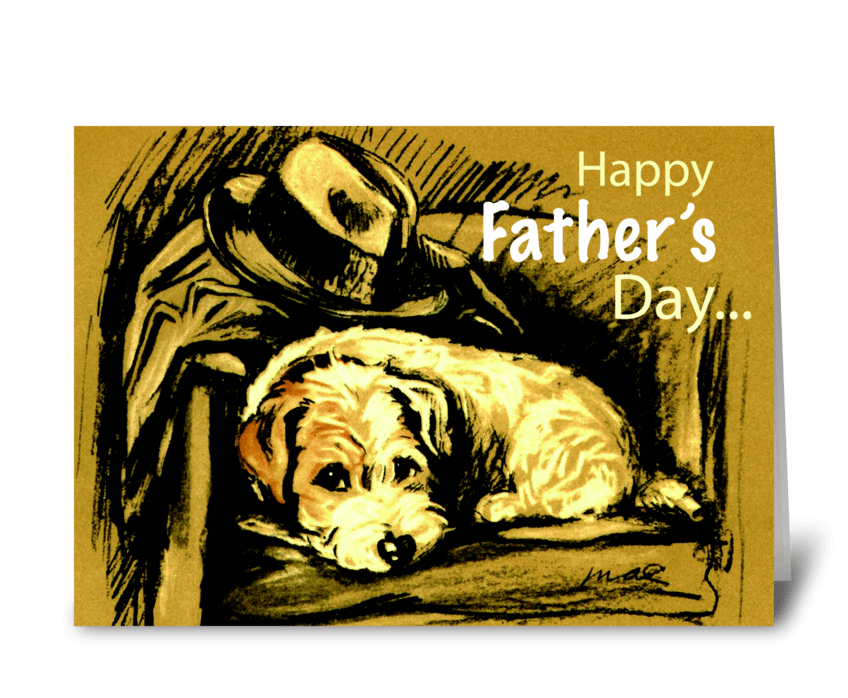 Happy Father's Day From Dog greeting card