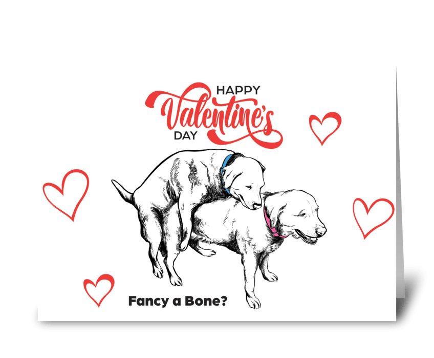 Funny Dog Valentines Card greeting card