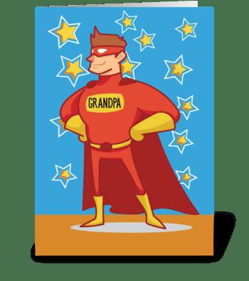 Grandpa Superhero, Grandparents Day greeting card